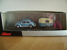 Schuco VW Käfer mit Wohnanhänger,unbespielt aus Sammlungsauflösung