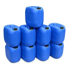 9 x 30 L blau Kanister Wasserkanister Trinkwasserkanister lebensmittelecht NEU.