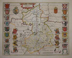CAMBRIDGESHIRE - CANTABRIGIENSIS COMITATUS BY BLAEU CIRCA 1645