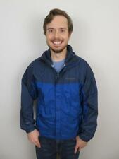 Marmot Blue Precip Rain Jacket Mens Small Coat Windbreaker Hooded Nylon Damage