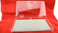 Full Size Clear Acrylic Box Case with Lock & Grey Velvet Display Pad
