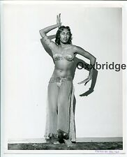 East Indian Burlesque Belly Dancer 8x10 ORIGINAL 1950 PINUP PHOTO Sikh Hindi B26