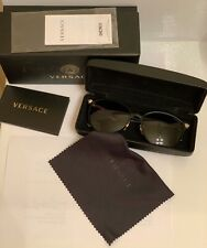 Versace Sunglasses 2168 Polarized Black Gold / Gradient Gray 57 mm