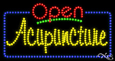 "New ""Open Acupuncture"" 32x17 Solid/Animated Led Sign W/Custom Options 25443"
