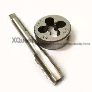 1set HSS Machine 7//8-9 UN Plug Tap 1pc 7//8-9 UN Die Threading Tool Left   hand