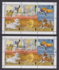 Gibraltar 1996 Mint MNH Used CTO Minisheet Dogs Spaniel Dalmatian Terrier Boxer