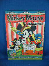 MICKEY MOUSE MAGAZINE VOL 2  #13 F VF CIRCUS COVER DONALD DUCK 1937