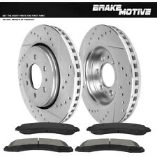 Front Drill Slot Brake Rotors Metallic Pads For 2010 2011 2012 - 2016 Ford F150