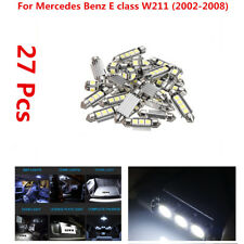 27 White Interior LED Reading Light Kit For Mercedes Benz E class W211 (02-2008)