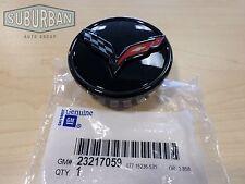 2014-2016 C7 Corvette GM All Gloss Black Flag Logo Center Caps Set Of 4 23217059