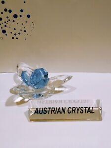 crystal home art decor light blue swamp flower natural austrian crystal