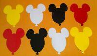 "MICKEY MOUSE DIE CUTS SET OF 24 BALLOONS 3"" H"