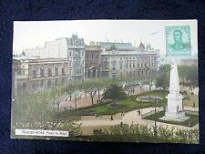 OLD PPC~BUENOS AIRES~PLAZA DE MAYO~ca 1910~ANIMATED~SPECIAL STAMP