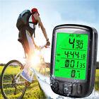 Waterproof LCD Backlight Cycle Bicycle Bike Computer Odometer Speedometer NEW US