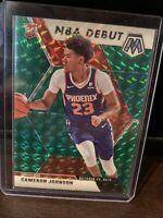 2019-20 Mosaic Cameron Johnson NBA Debut Green Prizm Rookie Card #265