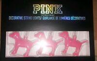 VICTORIAS SECRET PINK DOG SHAPE LED STRING LIGHTS XMAS SET INDOOR ORNAMENT RARE