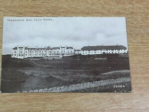 VINTAGE POSTCARD CLIFF HOTEL TREARDDUR BAY -  EARLY 1900's.