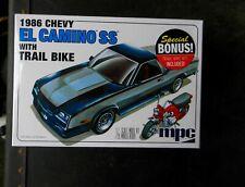 Mpc 1986 Chevrolet El Camino Ss 1:25Th Scale Plastic Model Sealed W/Trail Bike