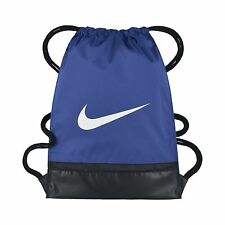 NIKE BRASILIA GYMSACK DRAWSTRING BAG BACKPACK GYM SACK BLUE BA5338 480 NEW