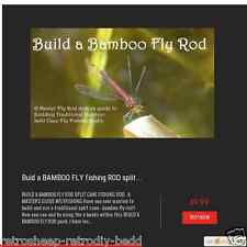 Construire un Bamboo Fly Rod split cane Canne à pêche-un Masters Guide #FLYFISHING