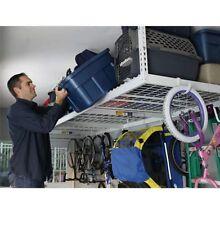 "Saferacks 4'x 8' Overhead Garage Storage Rack Shelves 24""-45"" Inc.Accessory Kit."