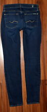"""WOMENS 7 FOR ALL MANKIND GWENEVERE SKINNY STRETCH FIT DARK JEANS 28 X 29"""" ANKLE"""