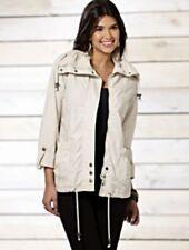 Ladies Brave Soul Lightweight Short Parka Jacket Stone Cotton Size 8 BNWT