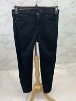 Adriano Goldschmied Women's The Stevie Ankle Slim Straight Black Jeans Size 27