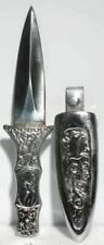 "Small 6"" Engraved Silver Boot Athame Knife Dagger Ritual BRAND NEW"