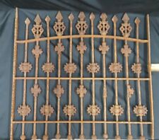 Architectural Salvage Wrought Iron Window Grate Geometric Shapes & Arched Top