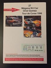 DECALS 1/43 RENAULT MEGANE MAXI GOMEZ RALLYE TOUR DE CORSE 1996 WRC RALLY