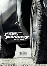 FAST AND FURIOUS 7 - Orig.KinoPlakat A1 - Vin Diesel, Paul Walker