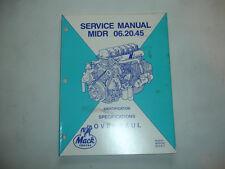 Mack Truck Factory Engine Midr 06.20.45 Service Manual Shop Repair E5 - 240 Oem