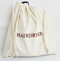 Cotton Hair Dryer Storage Bag Embroidered for Hotel Luggage Travel Hairdryer Bag