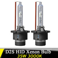 Pair 35W 3000K D2S HID Xenon Bulbs Replace Headlight Replacement Head Light Lamp