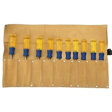 Professional Trade Quality Genuine Leather 10 Pocket Chisel Roll Holder IRWIN