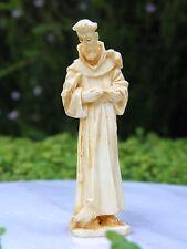 Miniature Dollhouse FAIRY GARDEN Accessories ~ Tan St. Francis Statue  ~ NEW