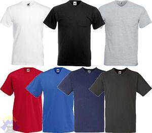 T-shirt Uomo/Man Scollo a V FRUIT OF THE LOOM da S a XXL Maglietta Manica Corta