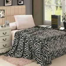 Animal Prints Blanket Zebra Black and White Bedding Throw Fleece Twin