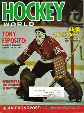 1976 (Apr.) Hockey World  magazine Tony Esposito, Chicago Blackhawks