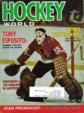 1976 (Apr.) Hockey World  magazine Tony Esposito, Chicago Blackhawks