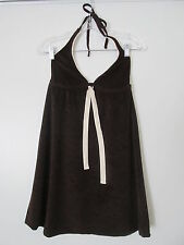 95696cb6ca Lucky Brand Bathing Suits Brown Terry Halter Tie Mini Cover-up SIZE XS-