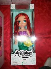 "Disney Store Animators 16"" Toddler Doll Princess Ariel"
