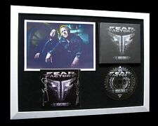 FEAR FACTORY+SIGNED+FRAMED+THE INDUSTRIALIST=100% AUTHENTIC+EXPRESS GLOBAL SHIP