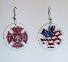 *FIREFIGHTER - PARAMEDIC - EMT Earrings or PERSONALIZE with YOUR NAME or PHOTO