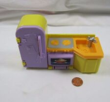 FISHER PRICE My First Dollhouse KITCHEN FRIDGE STOVE OVEN SINK Yellow Rare #2