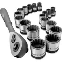 CRAFTSMAN 924963 19-Pc. 3/8 in. Universal Socket Wrench Set New