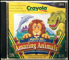 Crayola Magic 3D Coloring Book: Amazing Animals (PC, 1998 IBM)
