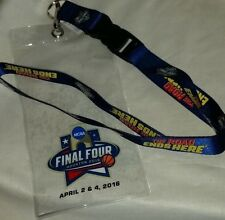 NCAA Mens Final Four 2016 Lanyard Ticket Holder With I Was There Pin NWT