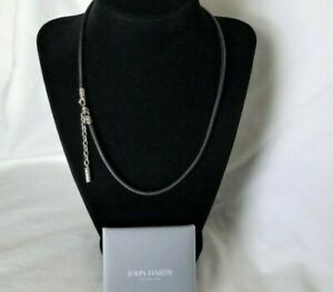 """John Hardy - Sterling Silver 3mm Black Leather Necklace - 20"""" length - Stunning!"""